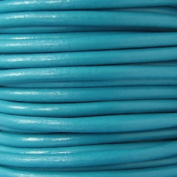 Euro 4mm Round Leather Cord - BLUE MOON
