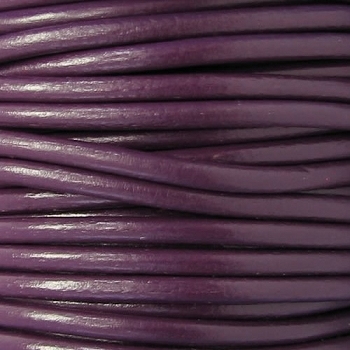 Euro 4mm Round Leather Cord - PLUM