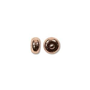Round Disc Metal Bead 4.5x2.4 Plain - Copper