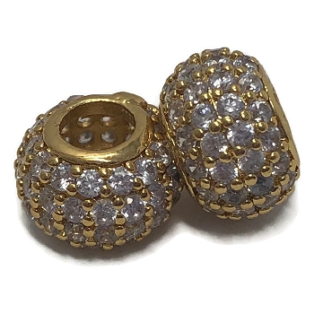 4mm round CZ Pave Crystal ROUND - Gold