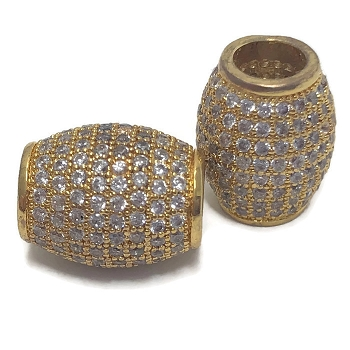 4mm round barrel CZ Pave Crystal ROUND - Gold