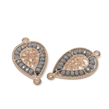 Smokey Crystal Vintage Connector - Rose Gold
