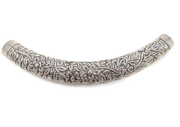 Filigree Curved Pendant - Silver