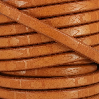 Regaliz South Western Deco Leather TAN - per meter