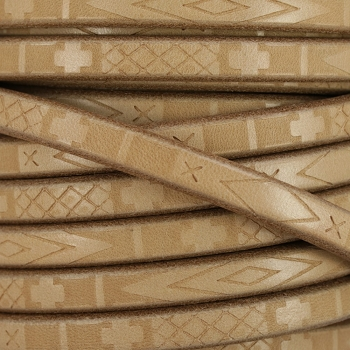 Regaliz South Western Deco Leather BEIGE - per meter
