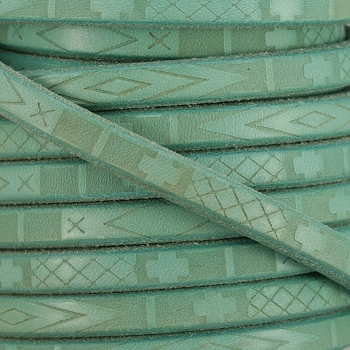 Regaliz South Western Deco Leather TURQUOISE - per meter