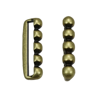 20mm 5 Dot Flat Bar Slider ANT BRASS