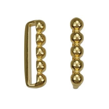20mm 5 Dot Flat Bar Slider SHINY GOLD