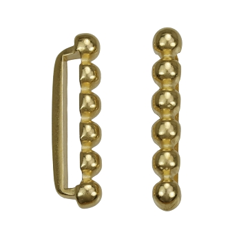 20mm 6 Dot Flat Bar Slider SHINY GOLD