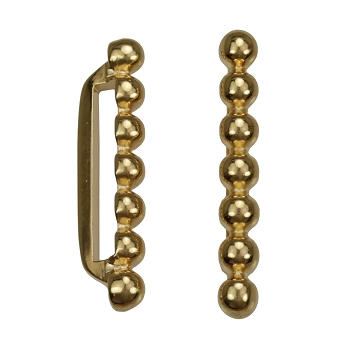 20mm 7 Dot Flat Bar Slider SHINY GOLD