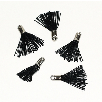 12mm SILVER : BLACK Tassel