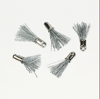 12mm SILVER : GREY Tassel