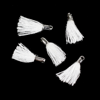 12mm SILVER : WHITE Tassel