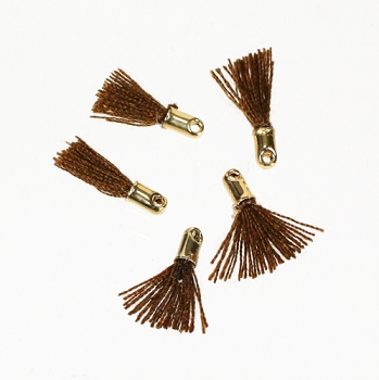12mm GOLD : BROWN Tassel