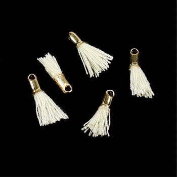 12mm GOLD : CREAM Tassel