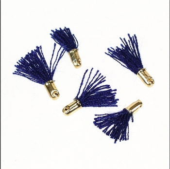 12mm GOLD : NAVY Tassel