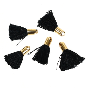 18mm GOLD : BLACK Tassel