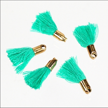 18mm GOLD : TEAL Tassel