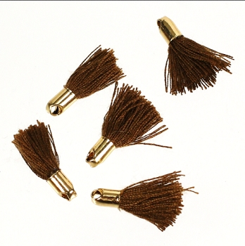 18mm GOLD : BROWN Tassel