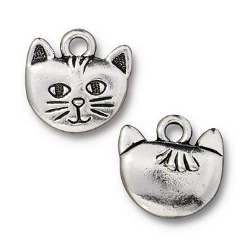 TierraCast Charm Whiskers - Silver Plate