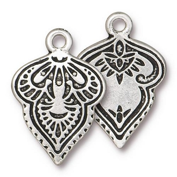 TierraCast Charm Mehndi - Silver Plated