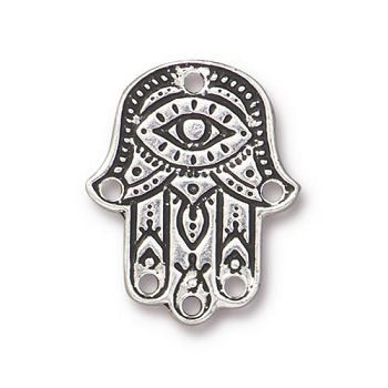 TierraCast Link Hamsa Hand - Silver Plated