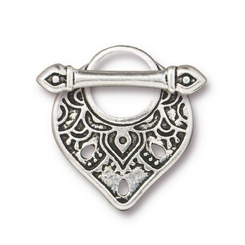 TierraCast Clasp Toggle Temple (2) - Silver Plated
