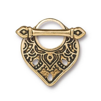 TierraCast Clasp Toggle Temple (2) - Gold Plated