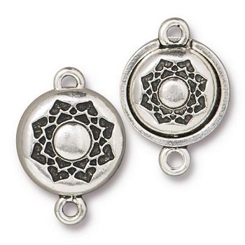 TierraCast Lotus Magnetic Clasp Set - Silver Plated