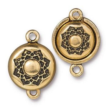 TierraCast Lotus Magnetic Clasp Set - Gold Plated