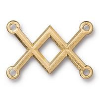 TierraCast Criss Crossed Link - Gold Plated