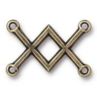 TierraCast Criss Crossed Link - Antique Brass