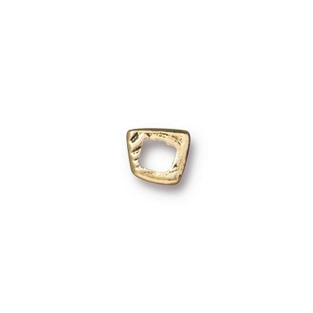 TierraCast Wonky Square Link - Antique Gold
