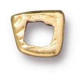 TierraCast Wonky Square Link - Gold Plated