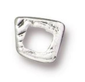 TierraCast Wonky Square Link - Silver Plate