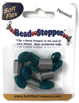 Soft Flex Bead Stoppers - Teal Tip