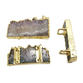 Regaliz Stone Slider - Amethyst slice Gold