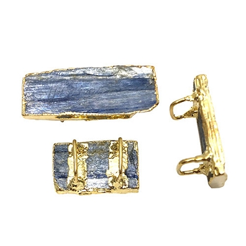 Regaliz Stone Slider - Blue Kyanite Gold