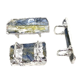 Regaliz Stone Slider - Blue Kyanite Silver