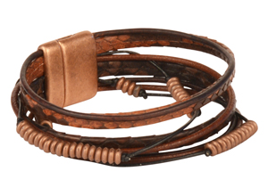 Rattler Mens Snake Leather Bracelet