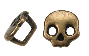 Regaliz Skull Spacer ANT COPPER