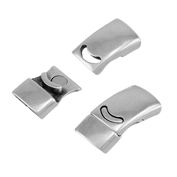 Plain Magnetic Clasp Antique Silver per 10 pcs
