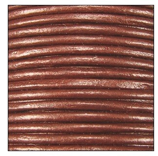 1mm Round Indian Leather Cord - Metallic Copper - per yard