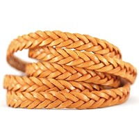 Braided Leather Strip Style 2 (11x3.5mm) per meter - Tobacco