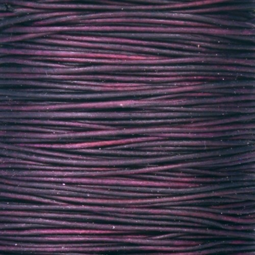 0.5mm Round Indian Leather Cord - Natural Pansy - per yard