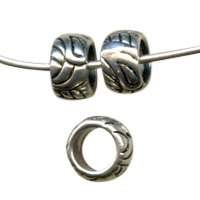 10mm Pattern Pewter Bead
