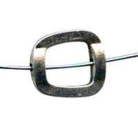 15mm Offset Square Pewter Bead Frame