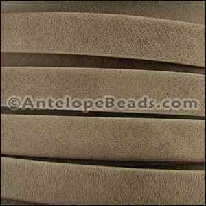 Arizona 10mm Flat Leather Cord - Taupe