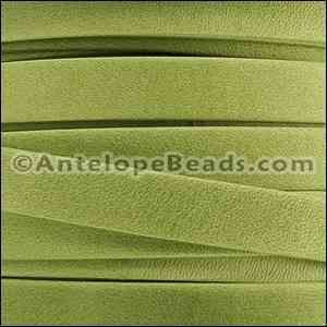 Arizona 10mm Flat Leather Cord - Key Lime Green