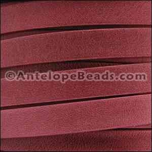 Arizona 10mm Flat Leather Cord - Red - per inch